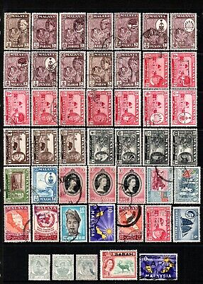 Selection Of Early Stamps From Malaya.