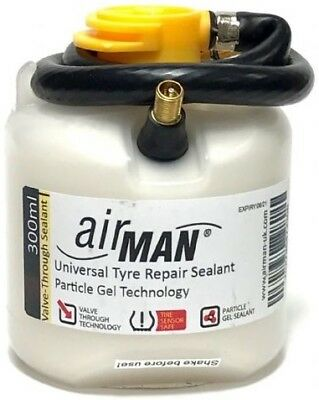 AirMAN Active Tyre Repair Sealant 300ml Universal Use With Any Air Compressor