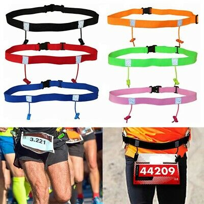 Sports Tool Race Number Belt Running Waist Pack Cloth Bib Holder Outdoor Elastic