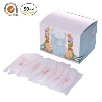 50Pcs/Pack Disposable Nursing Pads Adhesive Non-woven Anti-spill Nipple Cover
