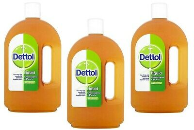 3 X Dettol Antiseptic Disinfectant Liquid 750 ml