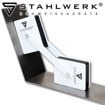 STAHLWERK magnetic welding angles holding 360° Power up to 50 lbs / 22,6 kg each