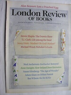 LONDON REVIEW OF BOOKS January 7 2010 Alan Bennett Charles Darwin Coco Chanel