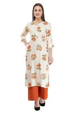 Indian Summer Printed Women Ethnic Style Dress Top Tunic Kurta Kurti New Print