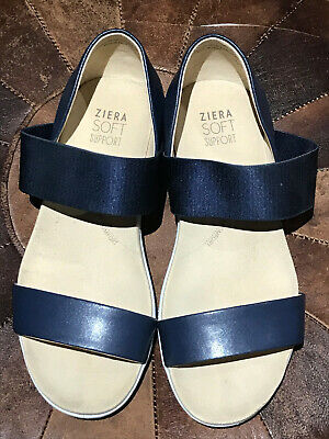 Ziera Unity navy blue, white sole flat shoe 38xw