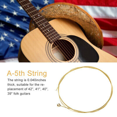 A-5th 040 Brass Wound Hexagonal Steel Core Acoustic Guitar String Guitar Parts