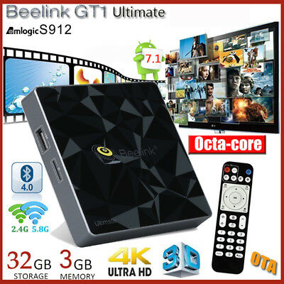 3Go+32Go WIFI Beelink GT1 Ultimate OctaCore Smart 4K HD Android7.1 BT4.0 TV Box