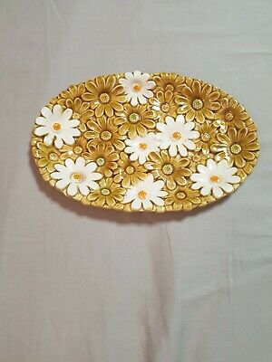 Retro, Vintage Plate/dish With Daisies