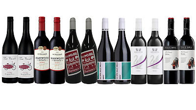 Bold Shiraz Red Wine Mixed 12x750ml RRP$249 Free and Fast Shipping