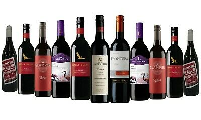 AU Award Winning Mixed Branded Red Wine 12 x 750ml - FAST & FREE SHIPPING