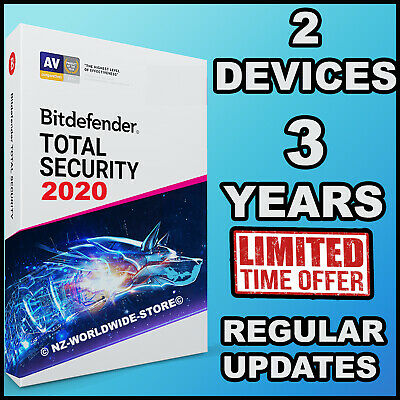 Bitdefender Total Security 2019 - 3 Years Activation 2 Devices - Download