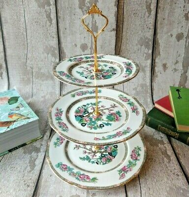 3tier Vintage /Shabby Chic Indian Tree Cake stand Afternoon Tea/ Party/ Wedding