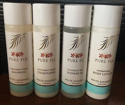 *PURE FIJI* 4pc Shampoo Conditioner Shower Gel Body Lotion Bathroom Set
