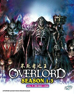 ANIME DVD~ENGLISH DUBBED~OVERLORD Season 1-3(1-39End+OVA)FREE