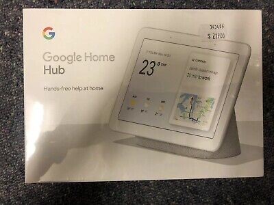 Google Home Hub Smart Speaker - Chalk