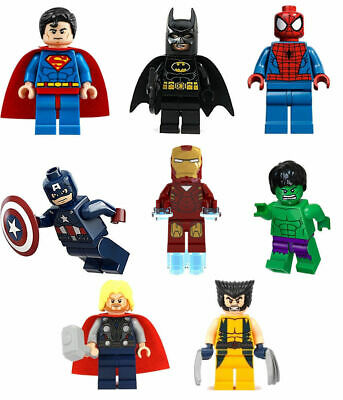 UK Lego Super Heroes Minifigures Custom Superhero Mini Figures Various MiniFigs