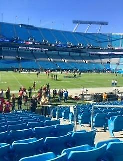 Carolina Panthers Vs New Orleans Saints -Sec 114 Row 11 Visitors Sideline - $800