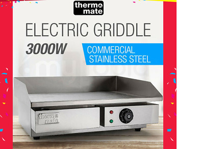 New Thermomate Electric Griddle Grill BBQ Hot Plate Commercial Stainless SteelNe
