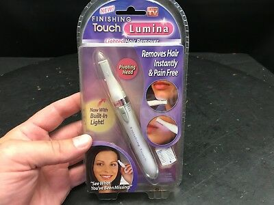Finishing Touch Hair Remover Lumina Trimmer With Pivoting Head Lighted #62