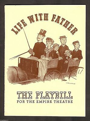 """Howard Lindsay """"LIFE WITH FATHER"""" Dorothy Stickney / Clarence Day 1941 Playbill"""