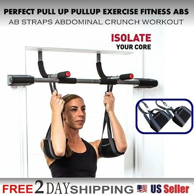 PERFECT PULL UP PULLUP EXERCISE FITNESS ABS AB STRAPS ABDOMINAL CRUNCH WORKOUT