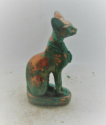 Scarce Ancient Egyptian Statuette Of A Bastet Beautiful