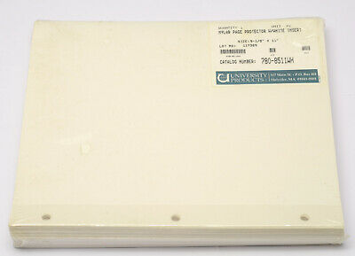 UNIVERSITY PRODUCTS 780-8511WH MYLAR PAGE PROTECTORS white insert pack of 50