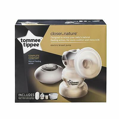 Tommee Tippee Closer to Nature Electric Breast Pump, White new