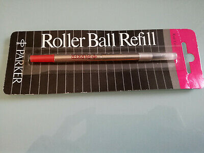 New Old Stock Vintage 1980s Parker Roller Ball Refill Red Fine - Recharge Parker