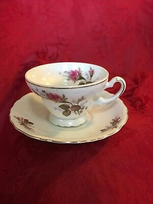 Rosenthal Moss Rose Pompadour Cup & Saucer Set 5 Available