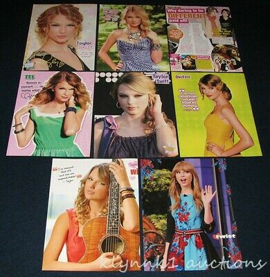 Taylor Swift 6 sets 48 Full page Magazine Clippings Pinup Article Lot T403