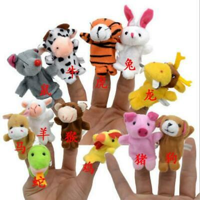 Baby Learn Story Kid Animal Family Finger Puppets Toy Doll Plush Play Game BL3