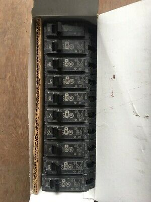 Lot of 10 NEW GE THQB1130 Bolt On Circuit Breakers 30 Amp 1 Pole 125v THQB130