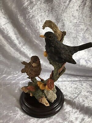 "Country Artists ""Warwick Blackbirds""  on Wooden Plinth  (EC13)"