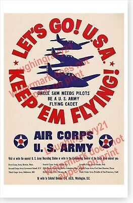 Air Forces WW2 P51 Mustang Art Deco Poster Wall Fabric Canvas 1732