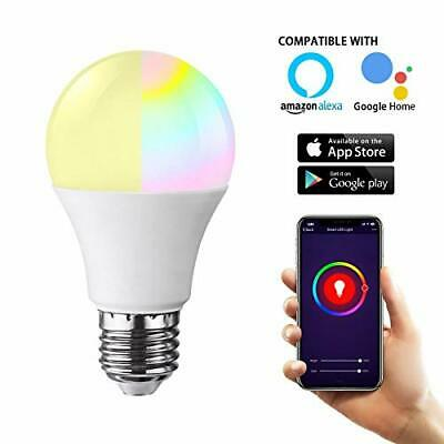 Smart WiFi LED Light Bulb, RGB Color Changing Work with Google Home Assistant