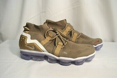 NIKE Air Vapormax FK Utility 924453-201 Tan Gold Red Tinker Hatfield (Mens 11)