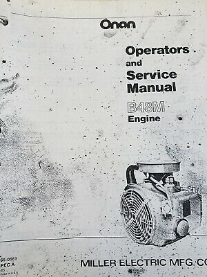 ONAN SERVICE MANUAL B48M Engine 46pg Garden Tractor 18 hp Sears