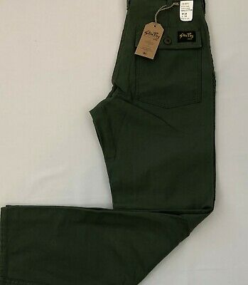 Stan Ray Dead Stock Olive Sateen Taper Leg Fatigue 100% Cotton Made in USA