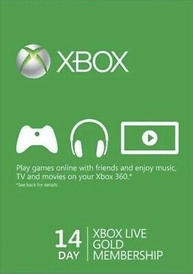 Xbox Live Gold 14 Days Trial Code And 1 Month Game Pass (New Account Only)