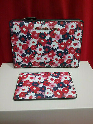 abb453181eb1 MICHAEL KORS Wallet Money Pieces Multi Color Floral Bifold Snap~W/Card  Holder