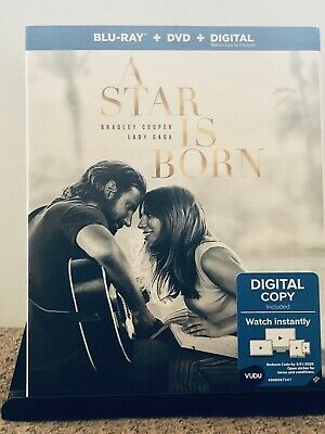 A Star Is Born (Blu-ray + DVD + Digital; 2018) W/Slipcover - New - Sealed GAGA