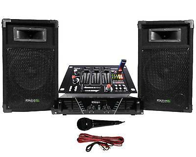 Pack Sono ampli + enceintes 500W + Table de mixage