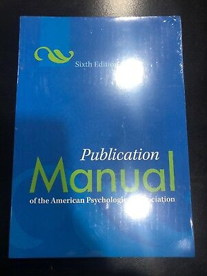 Publication Manual of the APA 6th Edition FREE SHIPPING