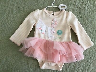 9ae777454 MUD PIE ROSE Tutu Crawler Size 3-6 Months Pink One Piece Outfit ...