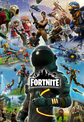 Fortnite Battle Royale Video Game Poster Wall Art High Quality Print Wallpaper