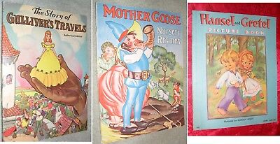 1930's Children's Books from Whitman and Saalfield Publishing Co.Mother Goose