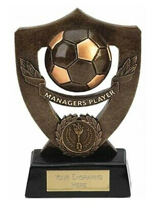 Shield Managers Player Football Trophies