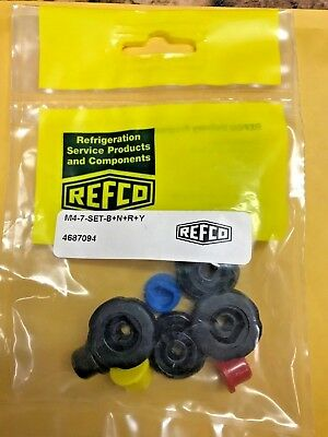 REFCO, 3 & 4-WAY refco manifolds, Replacement Knob, Set, M4-7-SET-B+N+R+Y