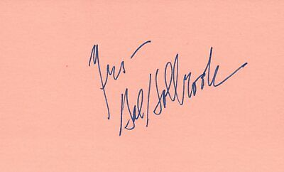 Leonard Frey Actor 1976 Uja Telethon Tv Movie Autographed Signed Index Card Movies Entertainment Memorabilia